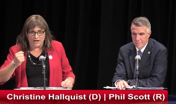 Walters: Scott, Hallquist Draw Clear Contrasts in Second Debate