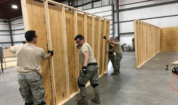 The Vermont National Guard is Building a 400-Bed Hospital at the Champlain Valley Expo
