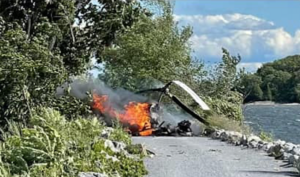 Pilot Survives After Crashing Helicopter Onto Colchester Causeway