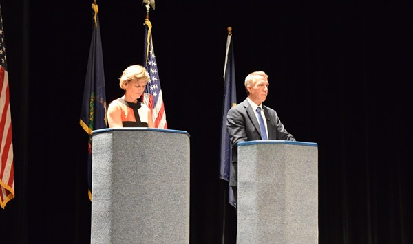 Scott, Minter Showcase Stark Differences in First Debate