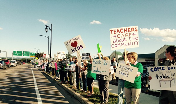 Picketing Burlington Teachers Call for Negotiations