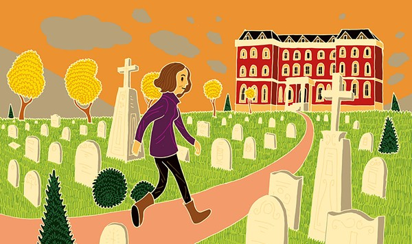 A Writer Finds That Graveyards Make Good Neighbors