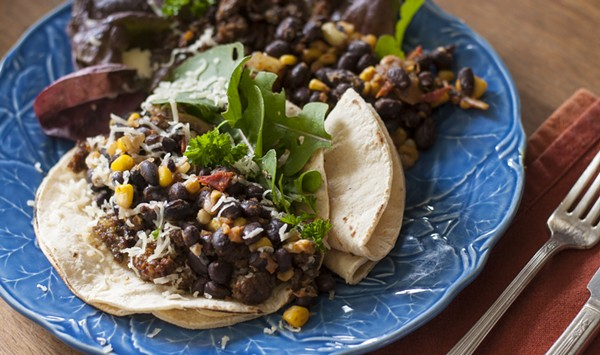 Farmers Market Kitchen: Lamb Merguez Tacos, Warm Salsa Succotash