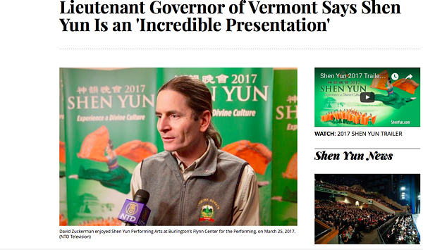 Vermont LG Becomes Part of <i>Shen Yun's</i> Massive Marketing Blitz