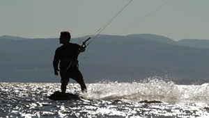 Kiteboarding on Lake Champlain [SIV415]
