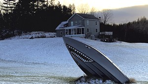 Why Is a Boat on a Westford Lawn Painted to Resemble a Shark?