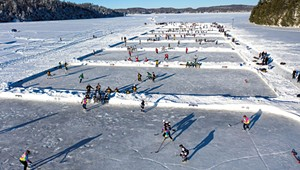 Diplomacy on Ice: Russians From Burlington's Sister City Play Hockey on Lake Champlain