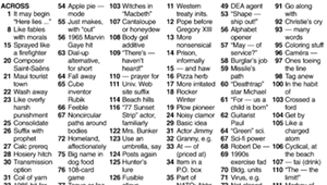 """Crossword: """"Out of the Ordinary"""" (3/25/20)"""
