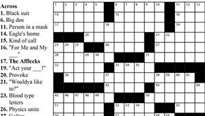 Crossword: 'Celebrity Siblings' (5/27/20)