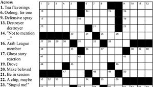 Crossword: 'Frequent Fliers?' (6/3/20)