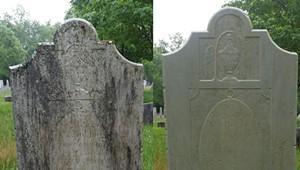 A Volunteer Crew Cleans Headstones in Burlington's Greenmount Cemetery