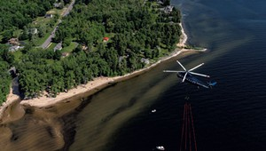 Why Did a Chopper Haul Another Aircraft Across Lake Champlain?