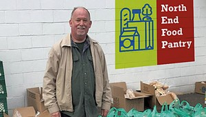 Thom Terrific: Burlington Man Turns His Small Food Pantry Into a Neighborhood Staple