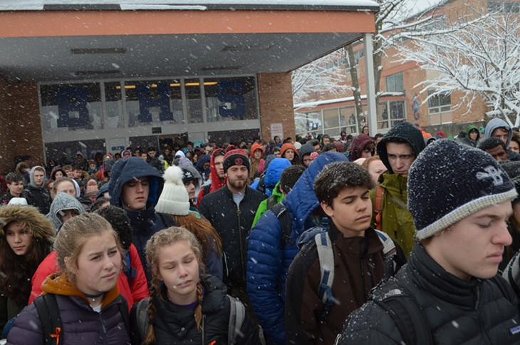 Burlington High School Walkout