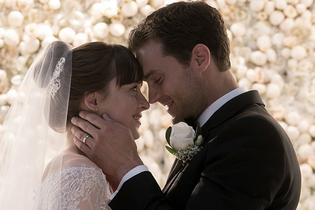 FIFTY SHADES OF MEH Johnson and Dornan tie the knot, and some other knots, in the third film based on E.L. James' best sellers.