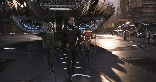 POWER TRIO Boseman, Nyong'o and Gurira are fierce and funny together in Coogler's superhero flick.