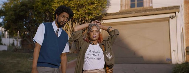 ON THE LINE Stanfield and Thompson play a young couple trying to make ends meet in Riley's surreal satire