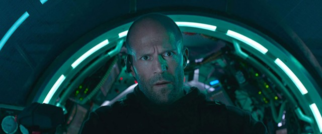 WHAT DIVES BENEATH Statham plays a deep-sea rescue expert under pressure in Hollywood's latest Jaws homage.