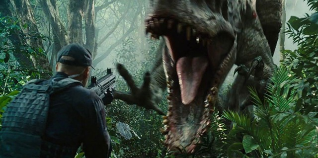 OPEN WIDE: Hairless apes are no match for the de-extincted dinos in Trevorrow's blockbuster sequel.
