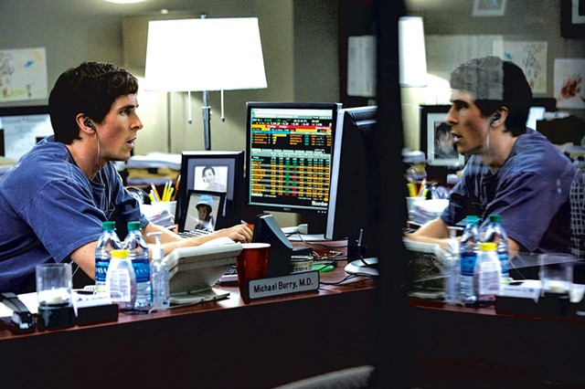SHORT SIGHTED Bale plays a rogue investor who sees big trouble on the financial horizon before anybody on Wall Street or in the government does.