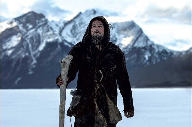 BROKEN GLASS DiCaprio is favored to win his first Oscar for his portrayal of a gravely injured frontiersman on a long-distance quest for revenge.