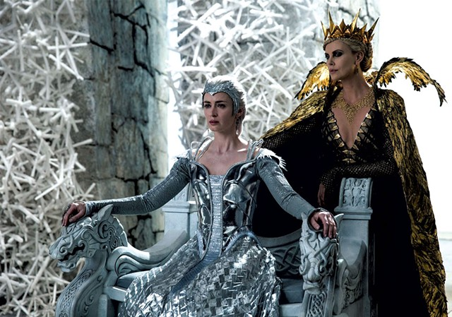THE WITCH AND THE WARDROBE Theron and Blunt don't need a magic mirror to tell them they look spectacular in this sequel that bizarrely extends the Snow White story sans Snow White.