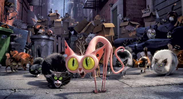 TOP SECRETS The feral, sewer-dwelling Flushed Pets helped Illumination's latest scare up more than a hundred million and dominate the domestic box office on its opening weekend.