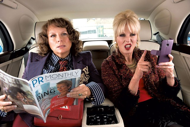 AGING DISGRACEFULLY Saunders and Lumley reprise their roles as drunk, decadent fashion victims in a big-screen add-on to the BBC comedy.