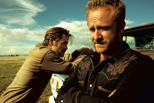 MAKING BANK Pine and Foster play brothers who resort to robbery to hold onto the family homestead in Mackenzie's modern western.