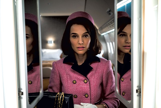 REFLECTIONS ON A THEME Portman plays a Jackie Kennedy obsessed with her own image in Larraín's offbeat biographical meditation.