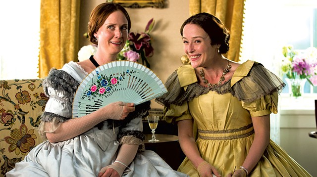 POETESS WITH THE MOSTEST For a couple of supposed shut-ins, the Dickinson sisters are a lot of fun in Davies' biopic.