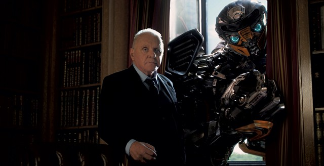 STEELING HIMSELF Hopkins lends his gravitas to Bay's latest giant robot extravaganza.