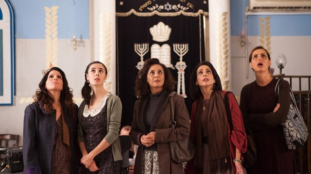 OVER THEIR HEADS? The women of an Orthodox synagogue fight for a place to worship in Ben-Shimon's Israeli blockbuster.