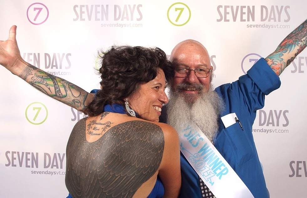 "Dierdra Tara Michelle and ""Bald Bill"" at the 2011 Daysies Awards - MATTHEW THORSEN"