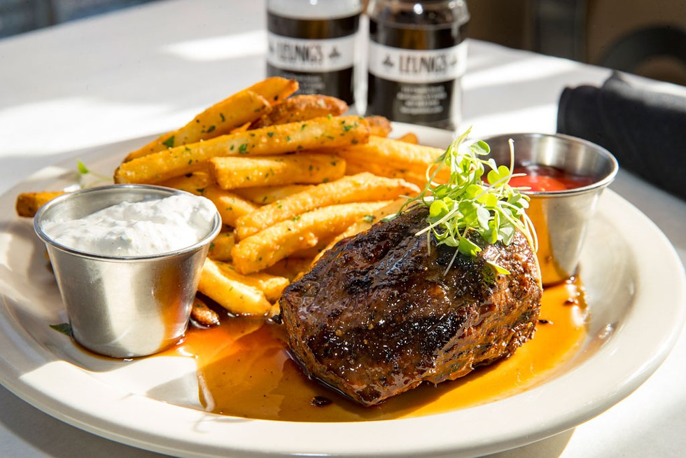 Steak frites at Leunig's Bistro & Café - JAMES BUCK
