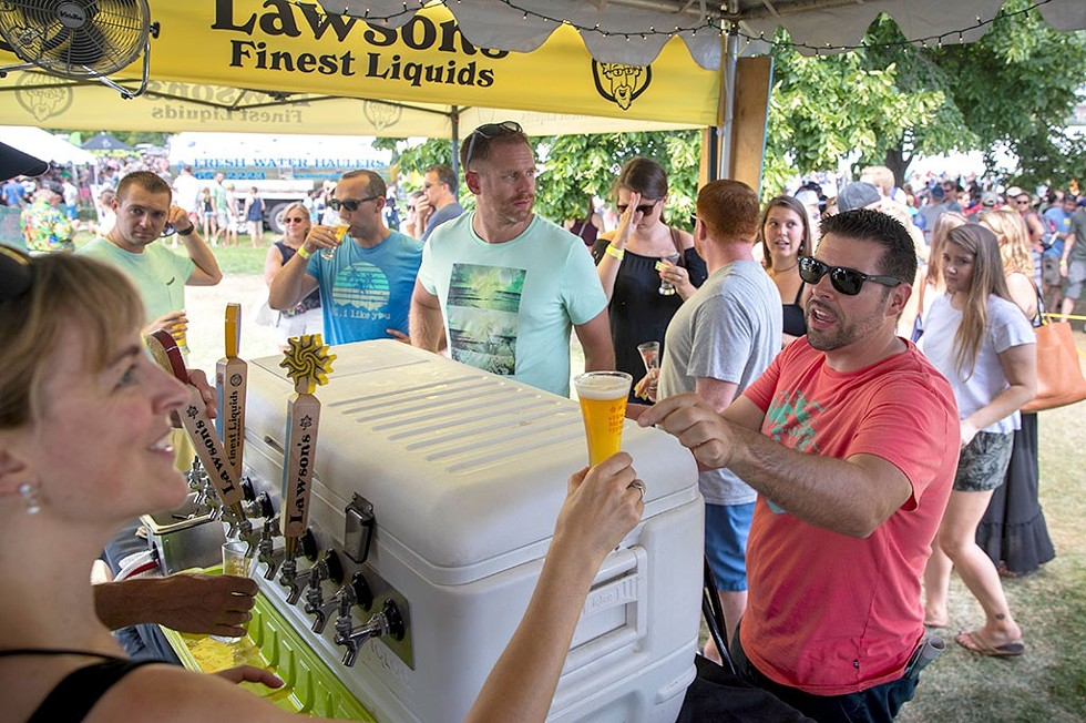 At the Lawson's tent at Vermont Brewers Festival 2018 - JAMES BUCK