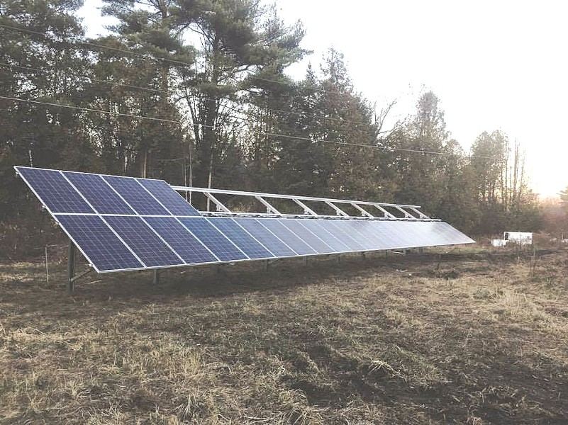 Solar panels at Bear Roots Farm - COURTESY OF BEAR ROOTS FARM