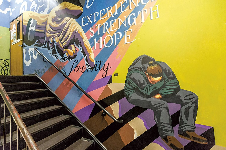 Turning Point Center stairwell mural - OLIVER PARINI