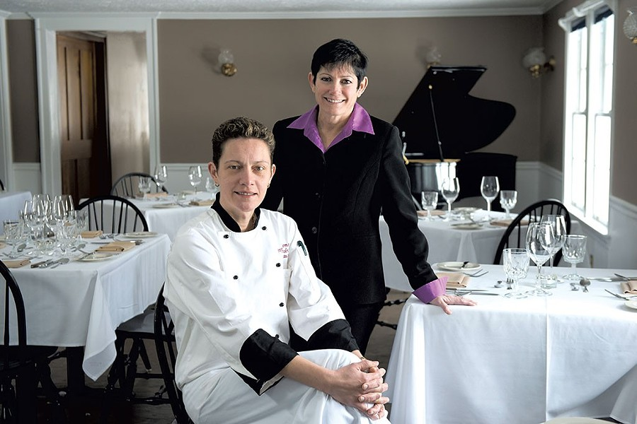 Chef Jevgenija Saromova (seated) and innkeeper Mara Mehlman - FILE: SARAH PRIESTAP
