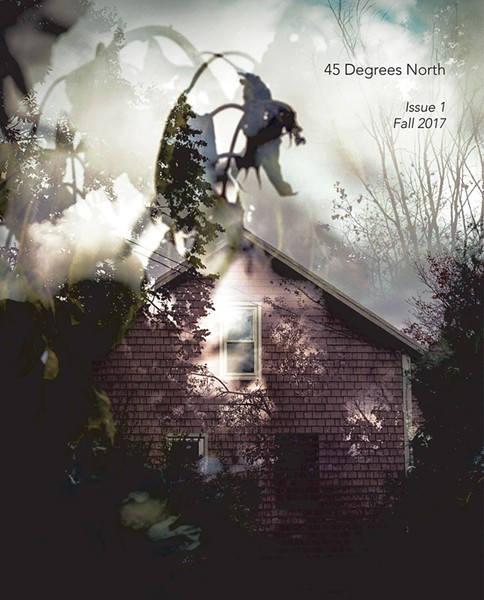 45 Degrees North, Issue 1, Fall 2017, is available at maryzompetti.com. $25.