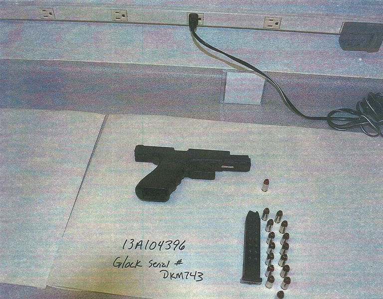 Evidence from the Wayne Brunette shooting - PHOTOS COURTESY OF BURLINGTON POLICE DEPARTMENT