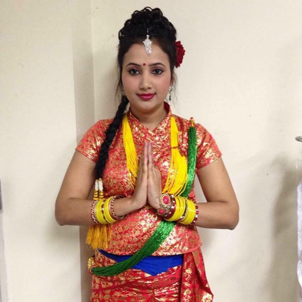 Neeru Cvakoti in a Nepali cultural dance costume - COURTESY OF NEERU CVAKOTI