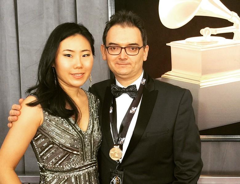 Héctor Del Curto with his wife, cellist Jisoo Ok - STOWE TANGO MUSIC FESTIVAL