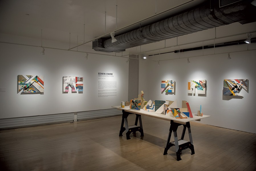 "Edwin Owre's ""New Constructions"" exhibit at BCA Center - PHOTOS COURTESY OF SAM SIMON"