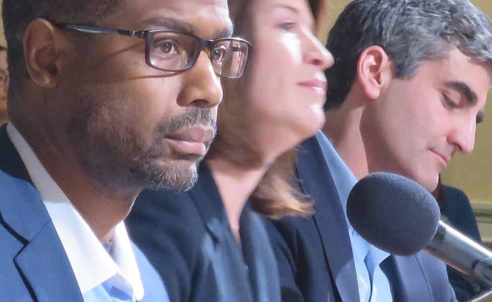 The mayoral candidates - FILE: MATTHEW THORSEN
