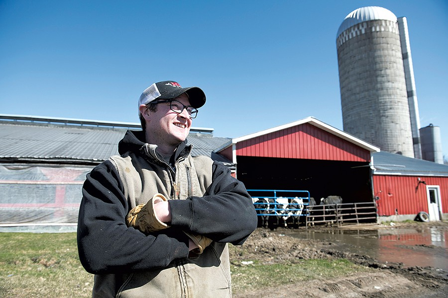 Chase Goodrich on his Salisbury farm - CALEB KENNA