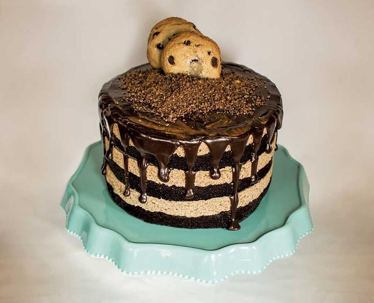 Sweet Babu chocolate-chip-cookie cake - COURTESY OF SIDNEY ELEY