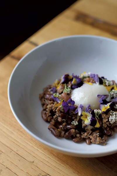 Wild Roots' veal sausage with egg - SARAH PRIESTAP