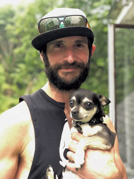 Colby Miller and pup Dolly Parton - COURTESY OF MAD BURGER