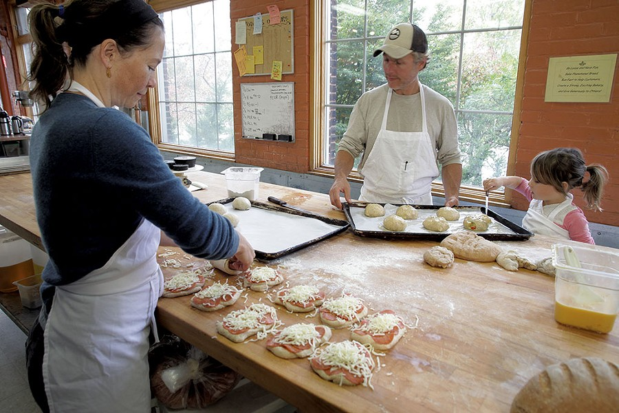 Sarah, Ethan and Eve Brown of Great Harvest Bread - MATTHEW THORSEN